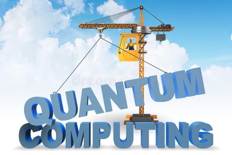 Il concetto di computazione di quantum - rappresentazione 3d fotografie stock