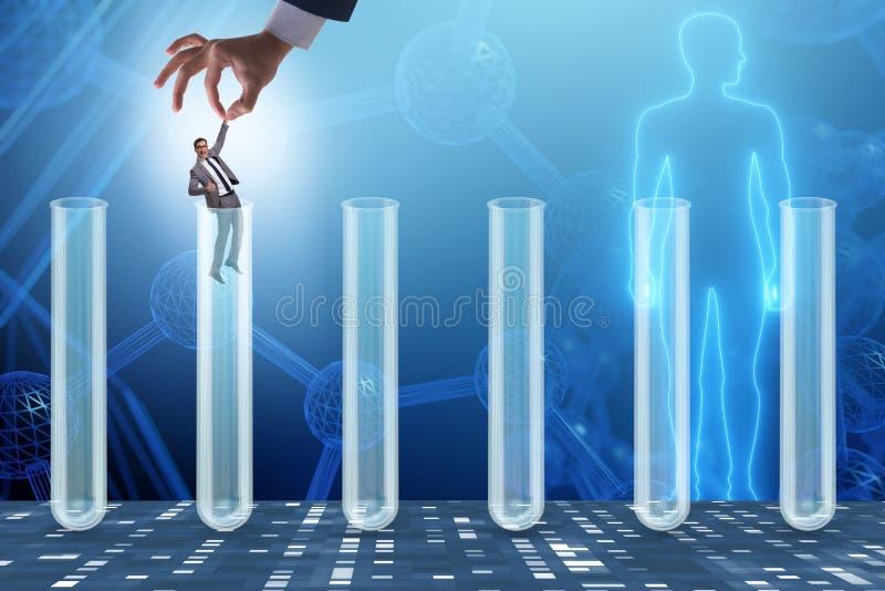 Il concetto di intelligenza artificiale con l'uomo d'affari dal tubo illustrazione di stock