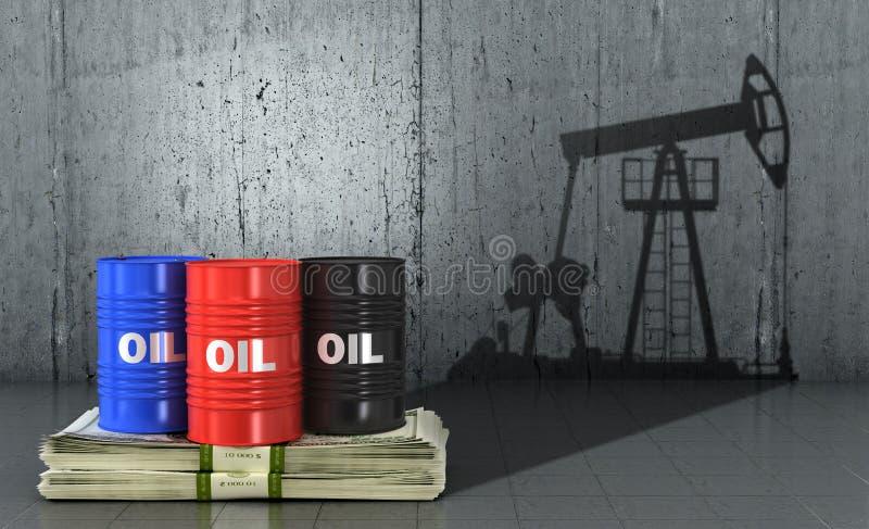 Il concetto di produzione di petrolio illustrazione di stock