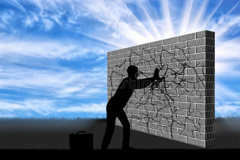 Il concetto di superamento delle sfide nell'affare immagine stock libera da diritti