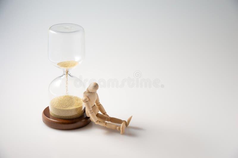 Il concetto di tempo fuori, vita sta concludendosi o lasso di tempo fotografia stock libera da diritti