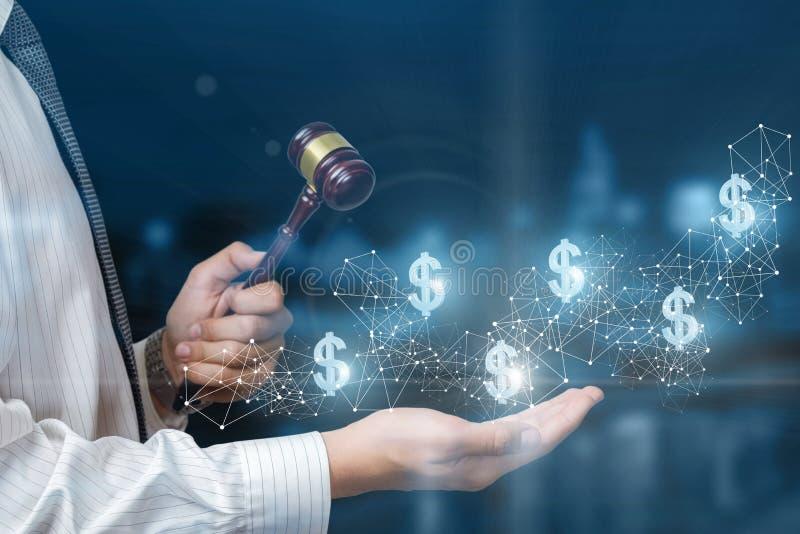 Il concetto di un'asta in una rete immagine stock libera da diritti