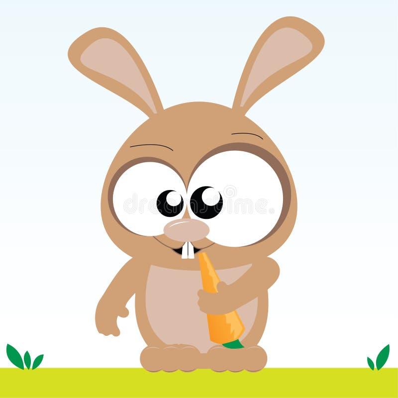 Il coniglietto mangia la carota royalty illustrazione gratis