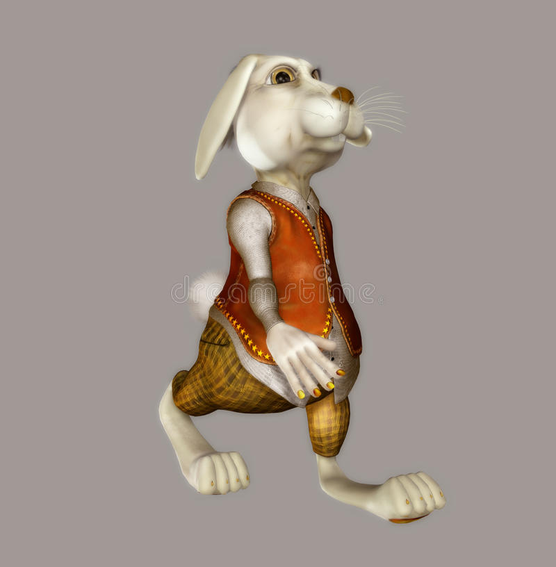 Il coniglio bianco illustrazione vettoriale
