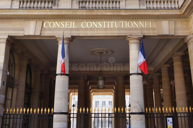 Il Consiglio costituzionale francese (Conseil Constitutionnel) fotografie stock