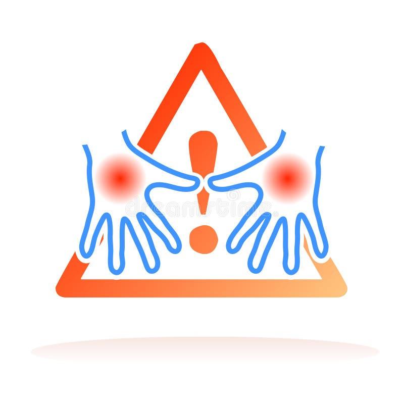 il consiglio passa il segnale dell'igiene illustrazione vettoriale