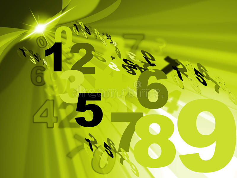 Il conteggio della matematica rappresenta la progettazione di numero e numerico royalty illustrazione gratis