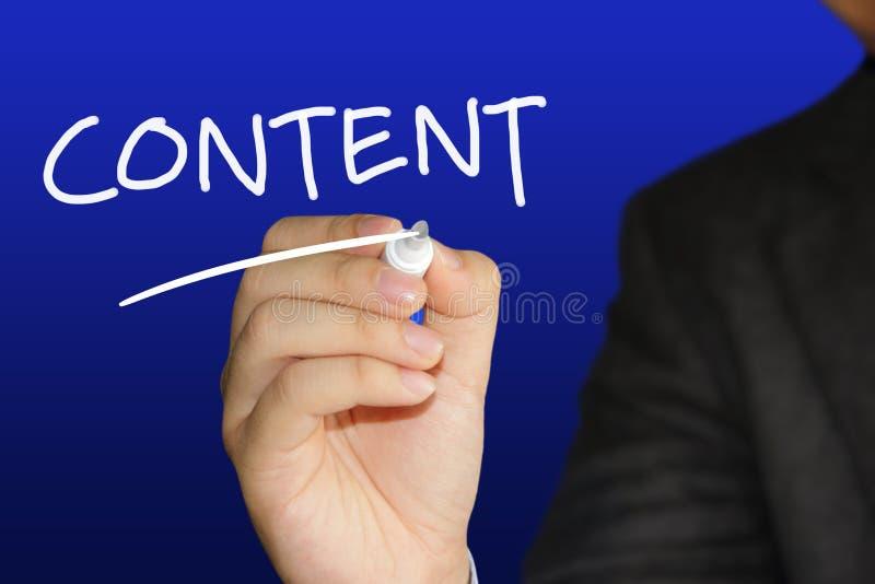 Il contenuto, citazioni ispiratrici di motivazione sociale di media di Internet, esprime il concetto dell'iscrizione di tipografi fotografia stock