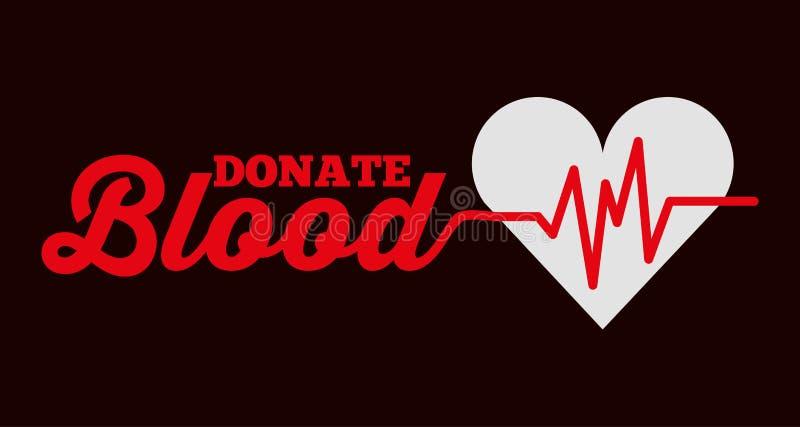 Il controllo di frequenza cardiaca dona la carta del sangue illustrazione di stock