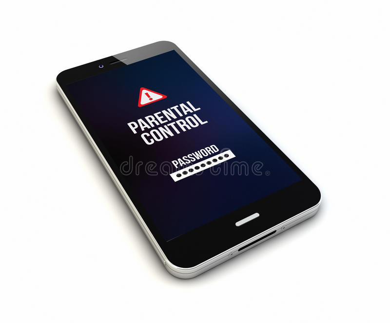 Il controllo paterno di Smartphone rende illustrazione vettoriale