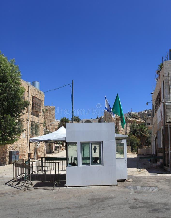Il controllo vicino scava dei patriarchi, Hebron fotografia stock libera da diritti