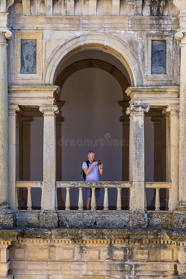 Il convento di Cristo, convento storico portoghese e fortifica dal 1520 fotografia stock libera da diritti