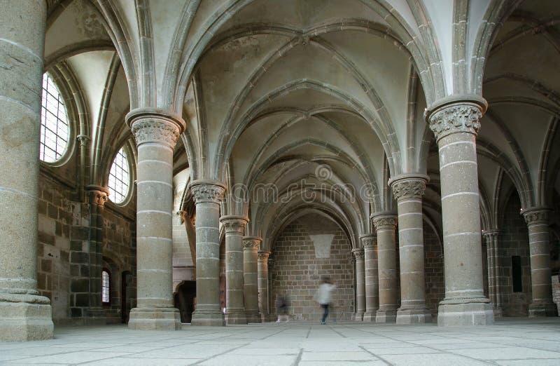 Il convento. Saint-Michel di Mont, Francia immagini stock