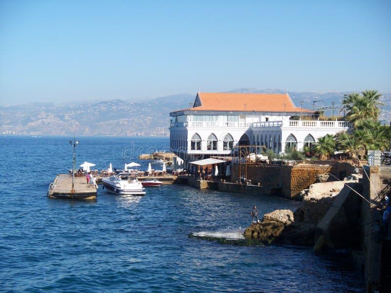 Il Corniche Beirut Libano immagini stock libere da diritti