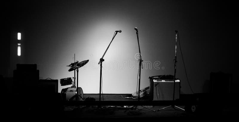 Il corno di musica ha impostato 3 fotografie stock