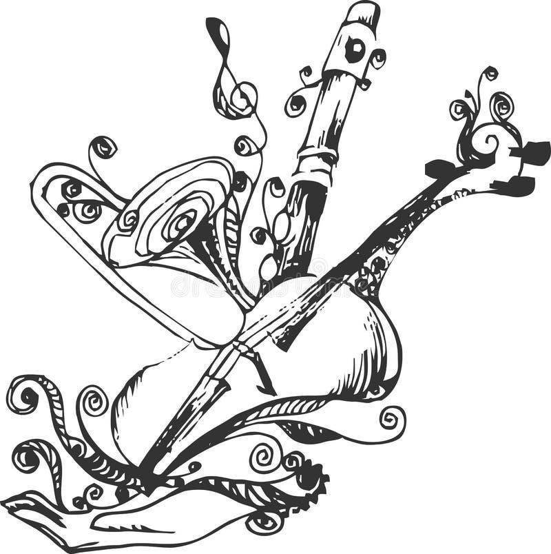 Il corno di musica ha impostato 3 immagini stock libere da diritti
