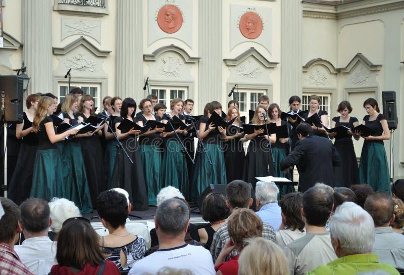 Il coro concerta immagini stock libere da diritti
