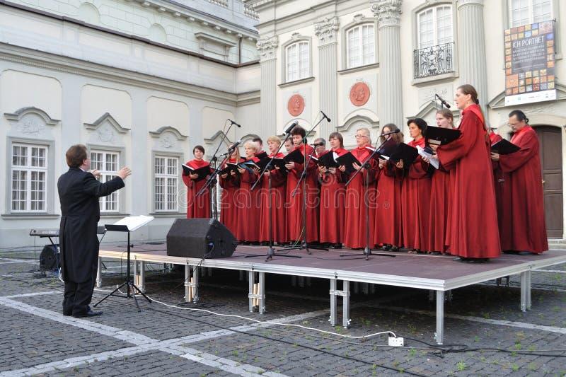 Il coro concerta immagine stock