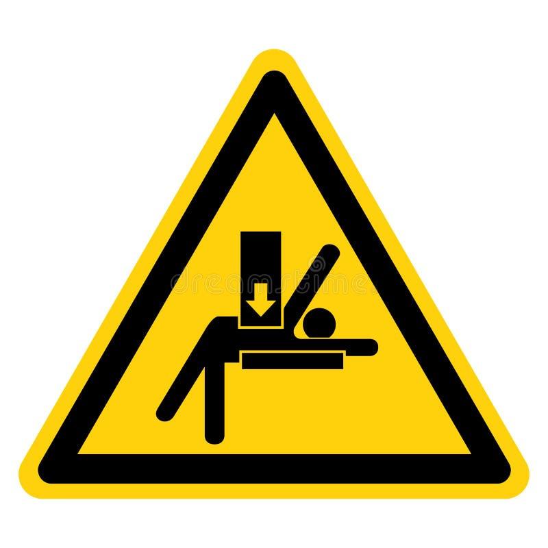 Il corpo schiaccia la forza da sopra il segno di simbolo, illustrazione di vettore, isolato sull'etichetta bianca del fondo EPS10 royalty illustrazione gratis