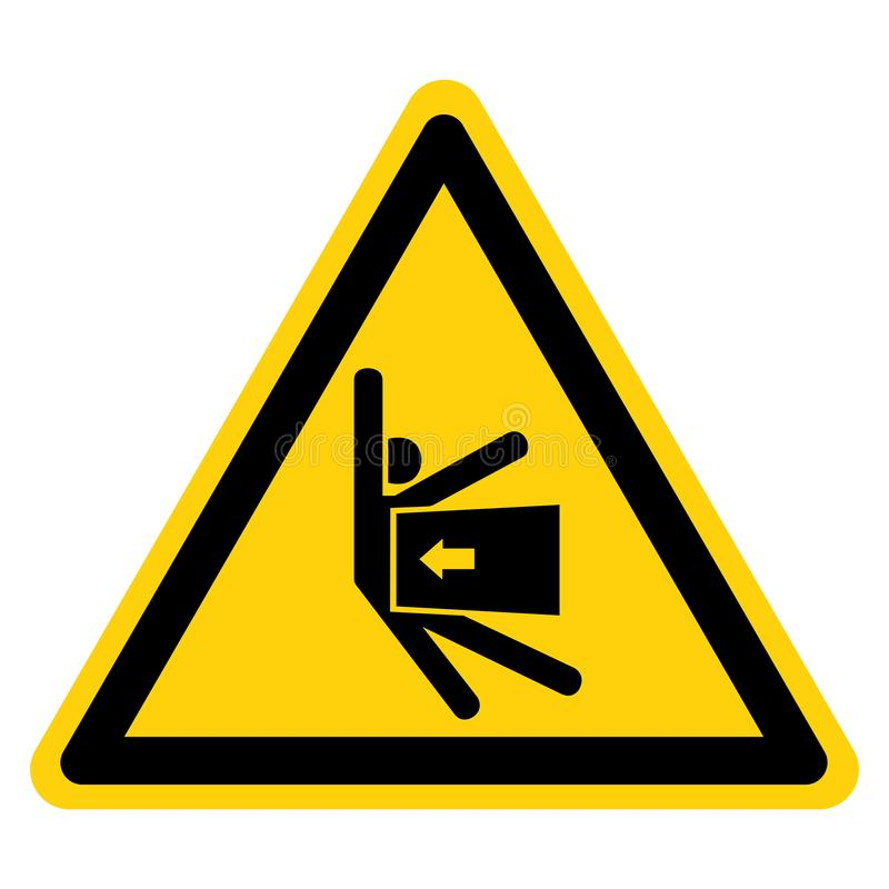 Il corpo schiaccia la forza dal segno laterale di simbolo, illustrazione di vettore, isolato sull'etichetta bianca del fondo EPS1 royalty illustrazione gratis