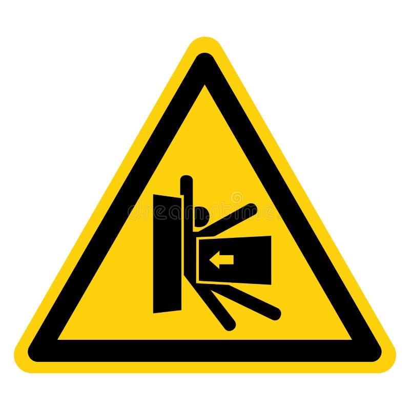 Il corpo schiaccia la forza dal segno laterale di simbolo, illustrazione di vettore, isolato sull'etichetta bianca del fondo EPS1 illustrazione di stock
