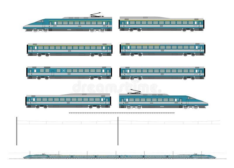 Corredo del treno ad alta velocità royalty illustrazione gratis