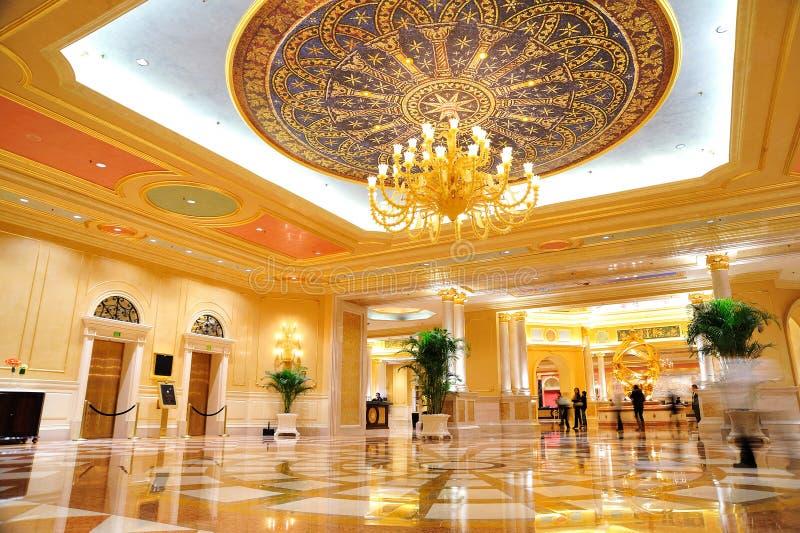 Il Corridoio dell'hotel veneziano fotografia stock