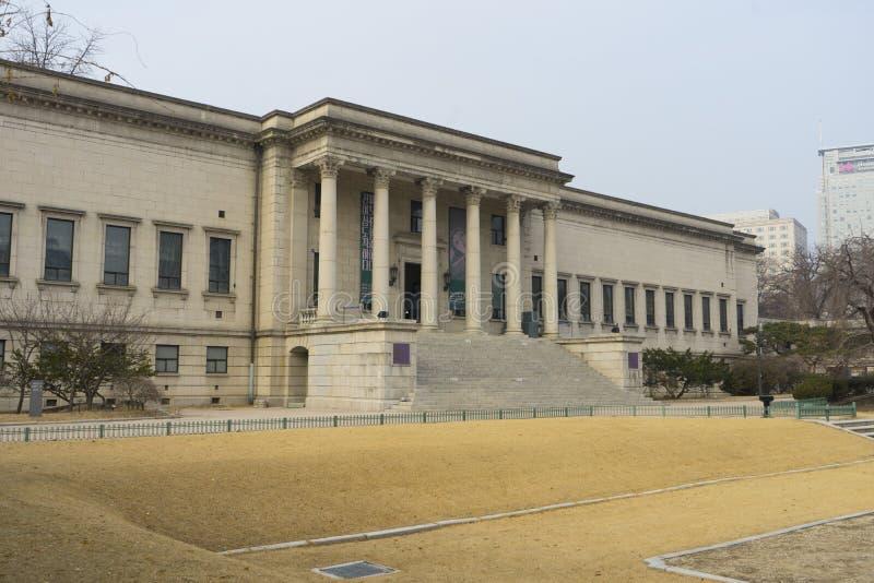 Il corridoio di Seokjojeon o il museo nazionale di moderno e di arte contemporanea è una costruzione occidentale di stile nel pal immagini stock libere da diritti