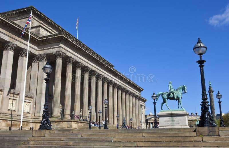 Il Corridoio di St George, principe Albert e la colonna di Wellington in in tensione fotografia stock