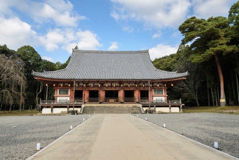 Il corridoio principale del tempio di Daigoji a Kyoto, Giappone fotografia stock
