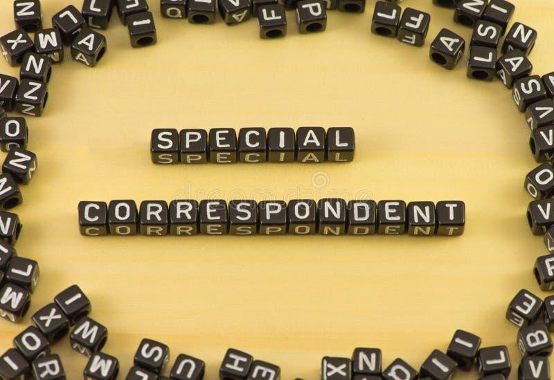 Il corrispondente speciale di parola fotografia stock