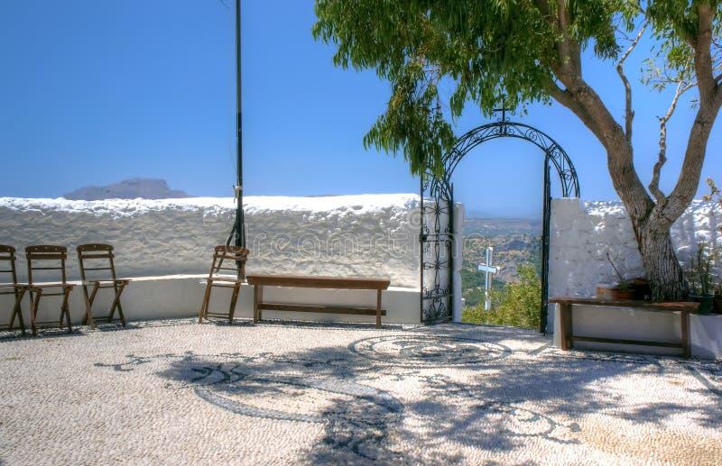 Il cortile del monastero immagine stock