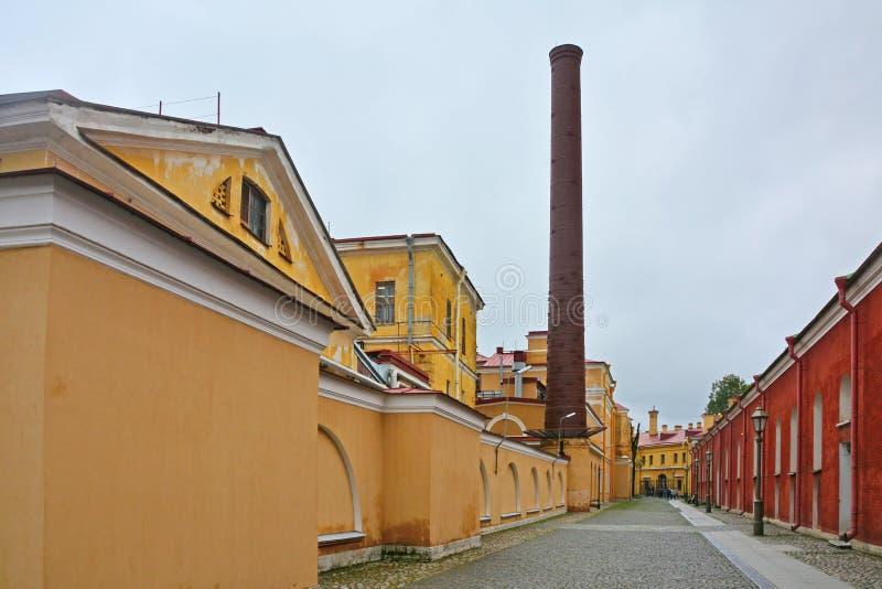 Il cortile di Peter e di Paul Fortress in San Pietroburgo, Russia immagine stock libera da diritti