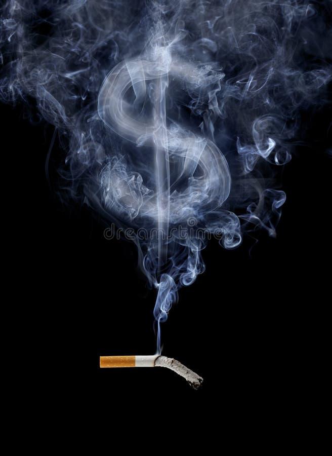 Il costo di fumo immagine stock libera da diritti