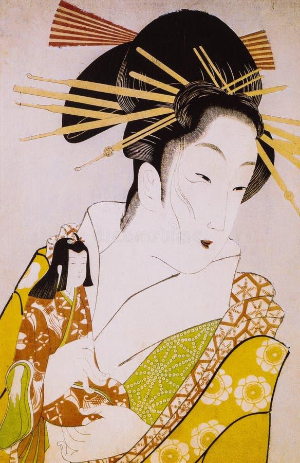 Il costume tradizionale del Giappone fotografia stock