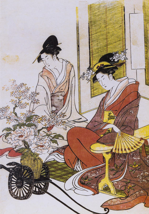 Il costume tradizionale del Giappone fotografia stock libera da diritti