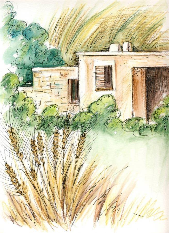 Il cottage illustrazione di stock