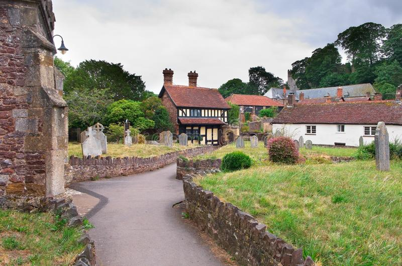 Il cottage di St George, Dunster, Somerset, Inghilterra fotografia stock