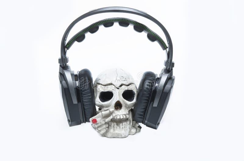 Il cranio del mante della musica fotografie stock