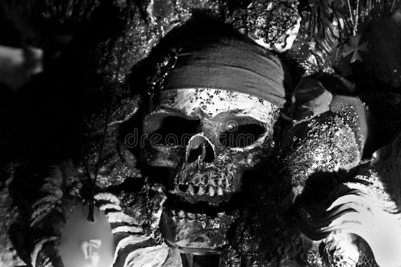 Il cranio del pirata fotografia stock libera da diritti