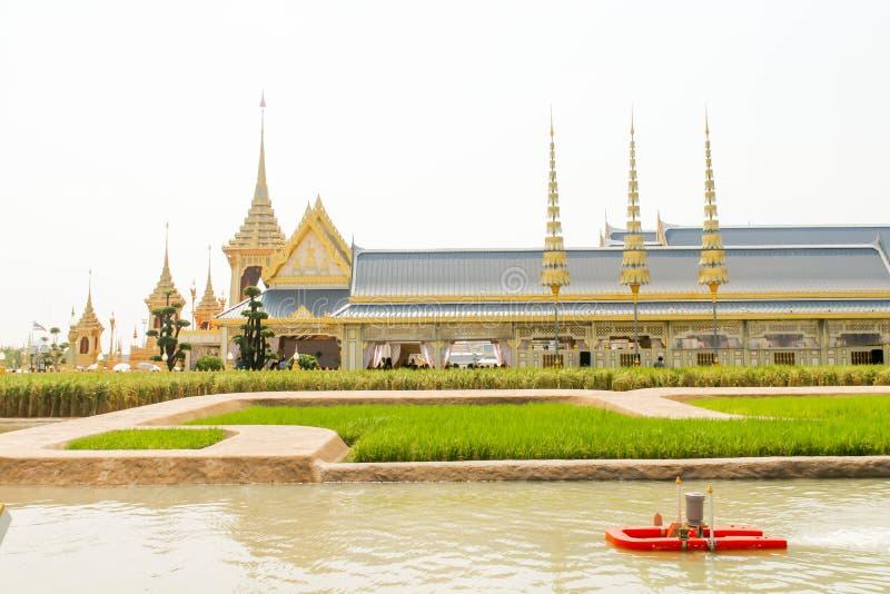 Il crematorio reale per re Bhumibol Adulyadej in Sanam Luang al 4 novembre 2017 immagini stock
