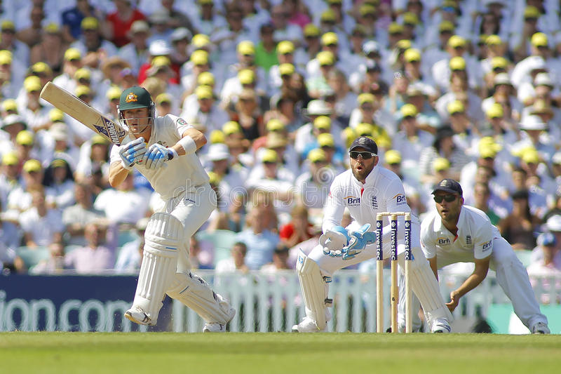 Il cricket internazionale Inghilterra v Australia Investec incenerisce quinto Tes immagine stock libera da diritti