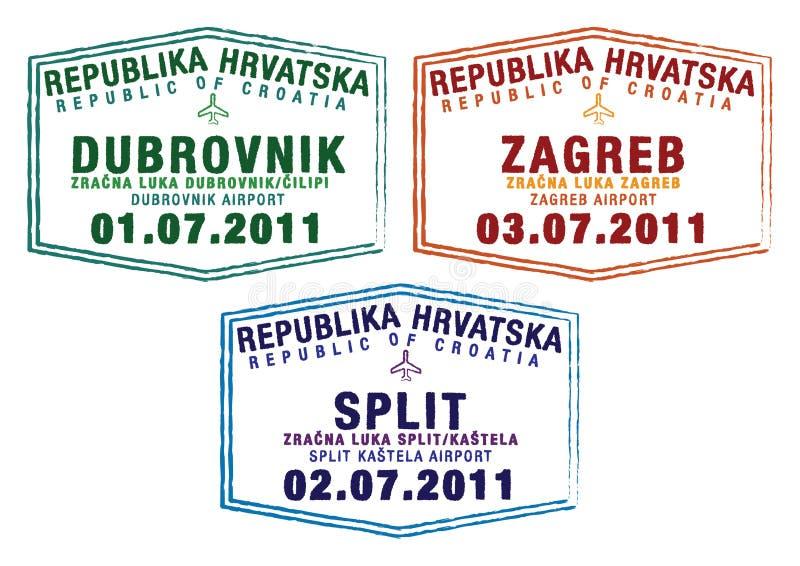 Il Croatia royalty illustrazione gratis