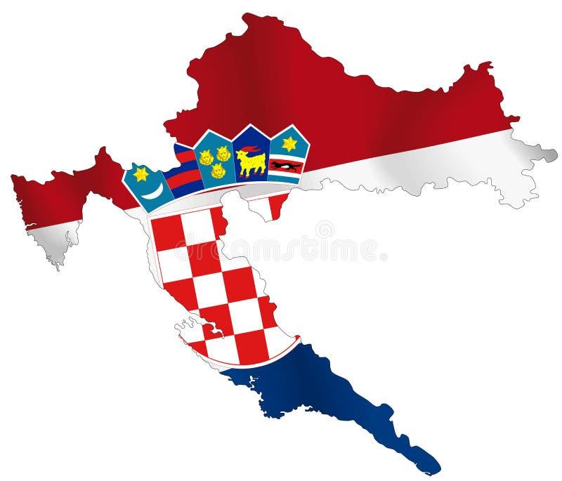 Il Croatia illustrazione vettoriale