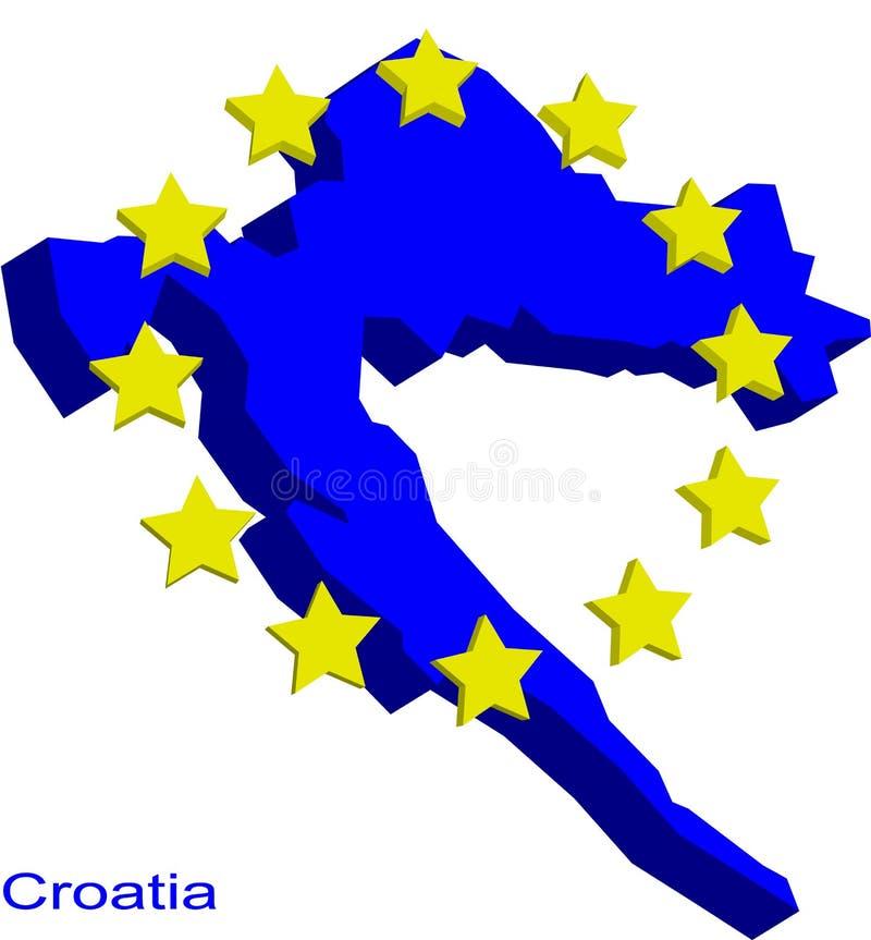 Il Croatia in Ue royalty illustrazione gratis