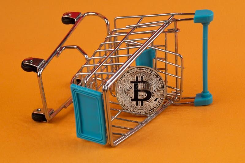 Il cryptocurrency di Bitcoin BTC significa del pagamento nel settore finanziario immagini stock
