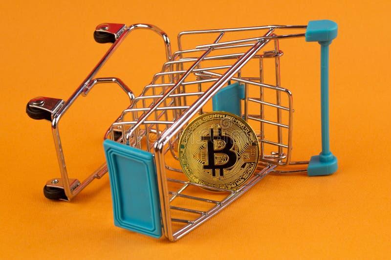 Il cryptocurrency di Bitcoin BTC significa del pagamento nel settore finanziario fotografie stock libere da diritti