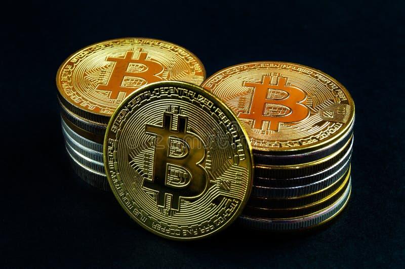 Il cryptocurrency di Bitcoin BTC significa del pagamento nel settore finanziario immagini stock libere da diritti