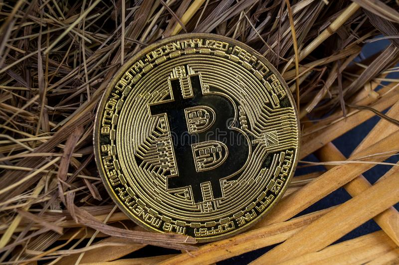Il cryptocurrency di Bitcoin BTC significa del pagamento nel settore finanziario fotografie stock