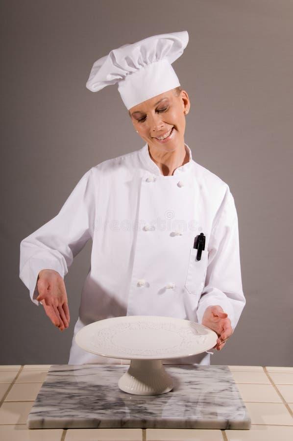 Il cuoco unico presenta la zolla bianca immagine stock libera da diritti